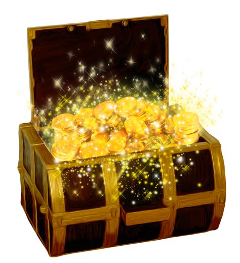 clipart picture treasure chest with gold coins png clipart picture