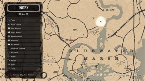 dreamcatcher rdr2 map bluewater marsh dreamcatchers red dead redemption 2 wiki