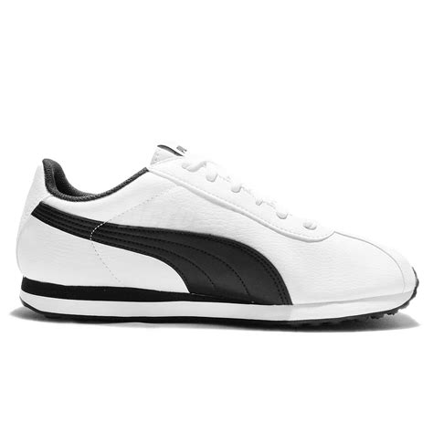 turin leather white black mens vintage casual shoes