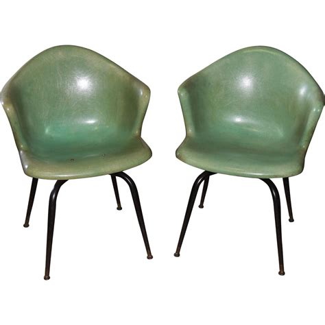 eames fiberglass chair markings pair eames herman miller mid century fiberglass shell arm