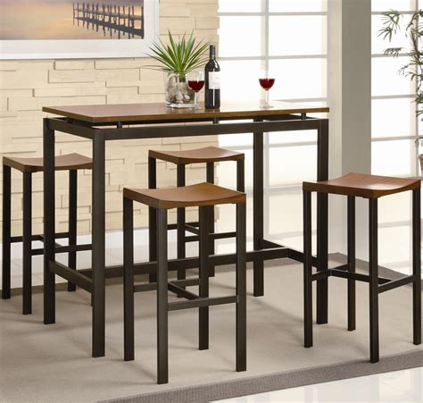 Dinette Sets With Bar Stools by Coaster Atlus 150097 5 Counter Height Dining Set