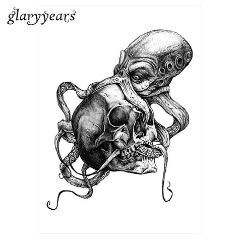 skull octopus tattoo skull and octopus design
