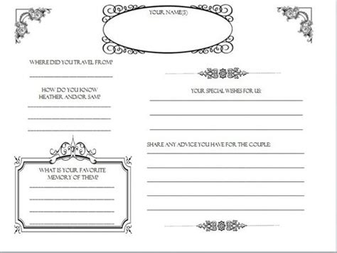 Diy Wedding Guestbook Templates My Guestbook Pages Dyi Printable Wedding Guest Book Printable Guest Book Template