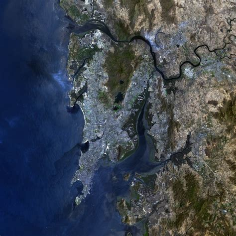 mumbai map satellite reaching iit bombay