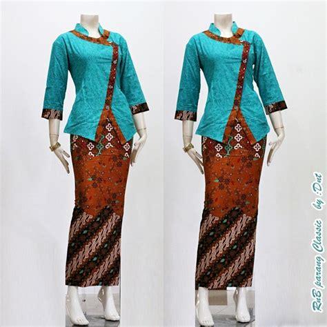 Tunik Wanita Parang Pelangi B jual batik wanita setelan rok n blouse batik kebaya batik parang embos anitaolshop