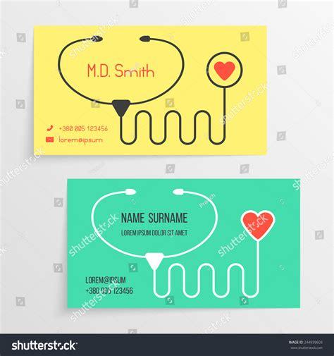doctor card template doctor card template stethoscope icon concept stock vector