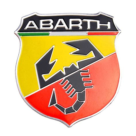universal car decoration metal abarth style 3d emblem