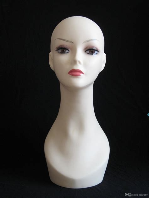 budget plastic male female display head heads mannequin cheap realistic plastic female mannequin head with ear
