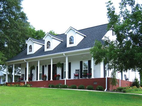 country house plans with porches one story house style