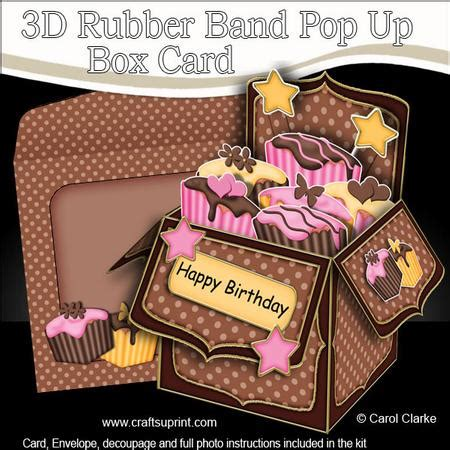 Get Well Soon Pop Up Card Template by 3d Fondant Fancy Cakes Rubber Band Pop Up Box Card