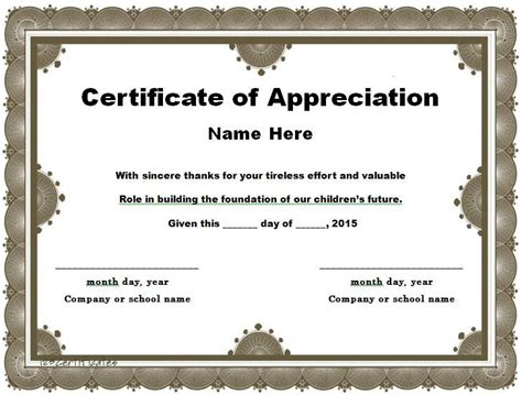 appreciation letter certificate 30 free certificate of appreciation templates and letters