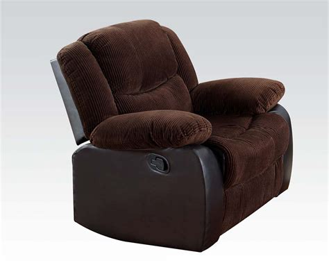 Corduroy Recliner by Corduroy Fabric Recliner Bernal By Acme Furniture Ac50467