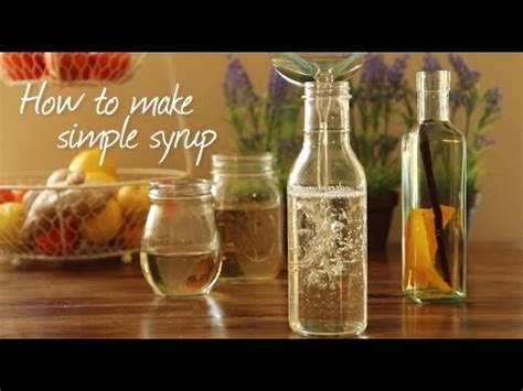 how to make sugar syrup for cocktails and drinks youtube