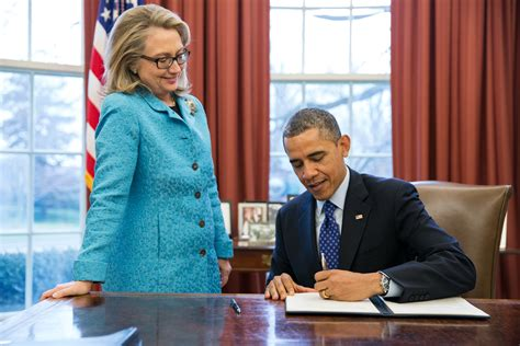 where does hillary clinton work president obama signs new directive to strengthen our work