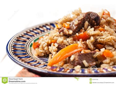 uzbek national dish uzbek national dish stock photography image 22761152