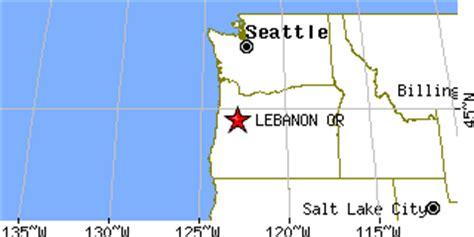 map of oregon lebanon lebanon oregon or population data races housing