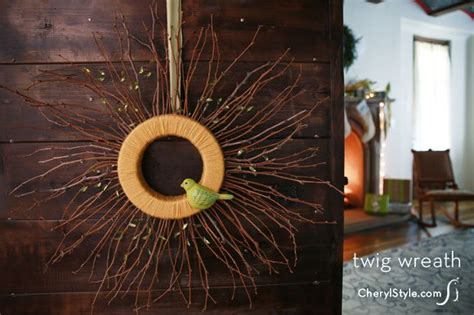 diy twig wreath upcycled twig wreath craft everyday dishes diy