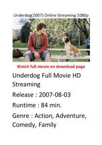 underdogs film streaming underdog 2007 online streaming 1080p top comedy action movies