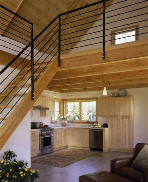 tiny house  loft white painted interior small