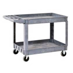 heavy duty shelving home depot sandusky heavy duty plastic utility cart 2 shelves the