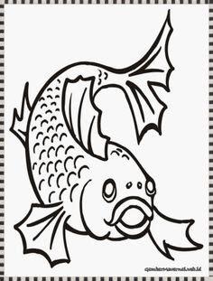 Keranjang Ikan mewarnai gambar buah buahan dalam keranjang mewarnai