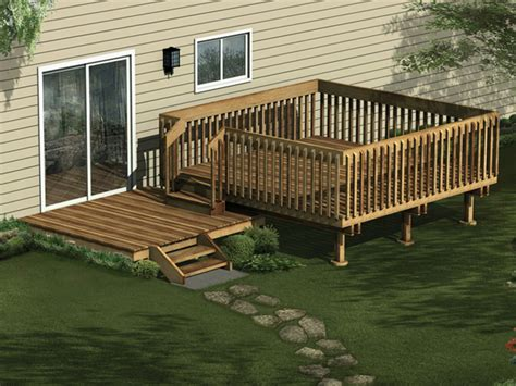 house decks designs sackette split level deck plan 002d 3016 house plans and more