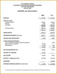 Financial Statements Financial Report Exle Vertola