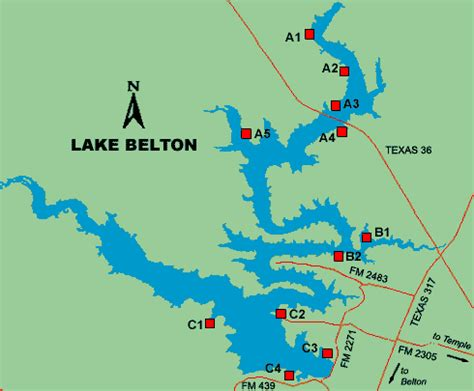 texas bank fishing map belton lake access