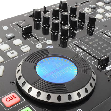 usb decks pd pdx125 dual cd deck mixer usb mp3 dj player eq fx