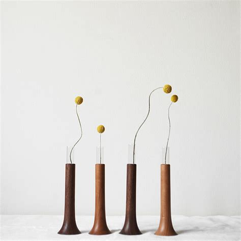 Single In A Vase by Single Flower Vase In Cherry Modern Vases By Monosquare