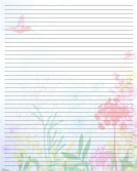 printable writing paper with border printable writing paper new calendar template