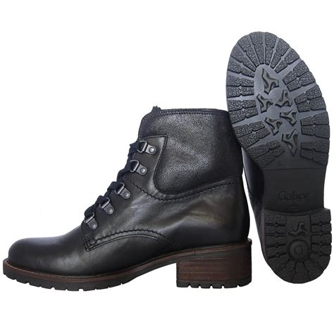 gabor boots cranleigh womens wide fit boot in black mozimo