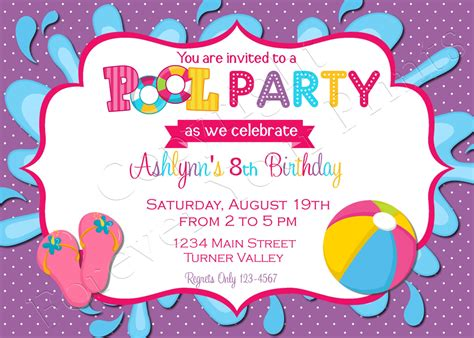pool party boys birthday invitation 5 quot x 7 quot invitation