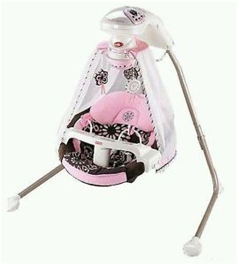 swing for baby girl fisher price baby girl pink papasan cocoa flower starlight