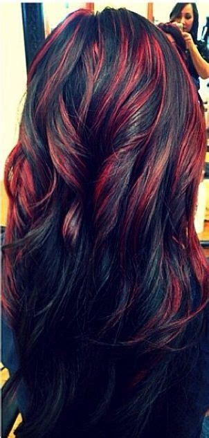 hairstyle ideas for highlights or streaks with wavy hair 20 fascinating black hairstyles for 2018 red highlights