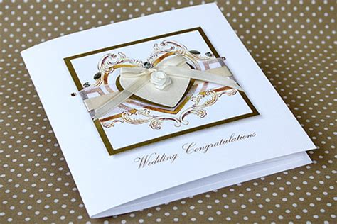 Handmade Wedding Cards Uk - handmade wedding card quot rococo gold quot