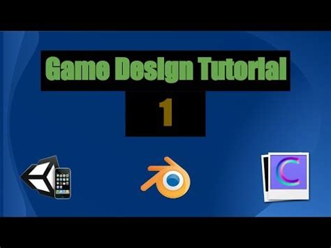 game design youtube game design tutorial 1 unity3d blender and crazybump
