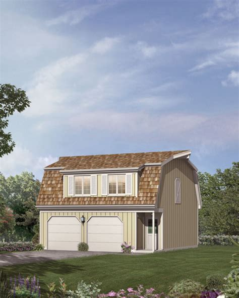 Grit 2 Car Garage Apartment Gambrel Roof E Plan 1 Gambrel Roof Carriage House Plans