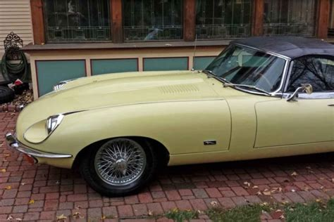 1971 jaguar xke e type roadster believed to be original primrose yellow paint for sale photos