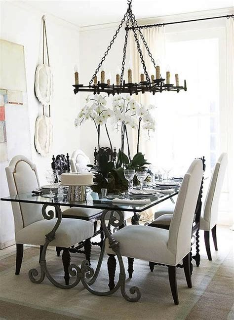 wrought iron dining room table accent old world style decor with iron tables artisan