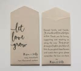Packets Of Seeds For Wedding Favors by Best 25 Seed Wedding Favors Ideas On Garden