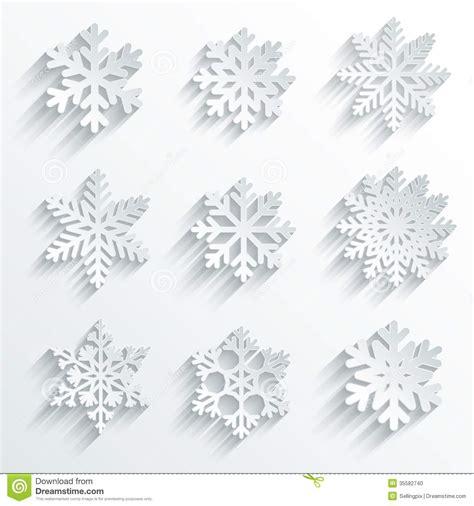 Beckham Snowflakes 1104 3 Set 3 In One snowflakes shape vector icon set stock photo image 35582740