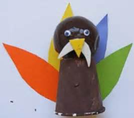 Paper Cup Turkey Craft - turkey crafts