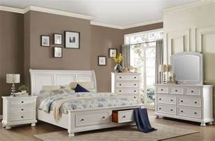 white storage bedroom set laurelin white sleigh storage bedroom set from homelegance