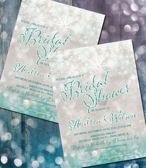 winter themed wedding shower invitations winter wedding shower invite snowflake wedding shower snowflake invitation frozen themed