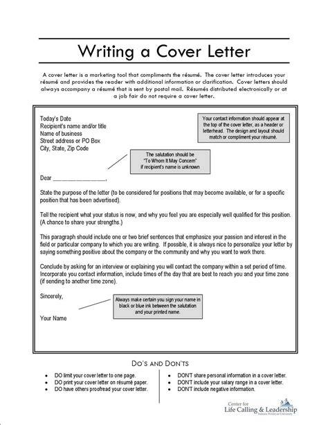 what should be on a cover letter what should be included in a resume cover letter