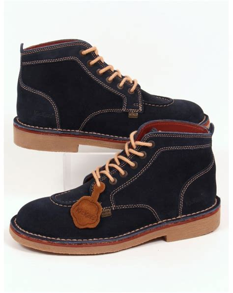 Kickers Classic Casual kickers legendary boots in suede navy legendary mens