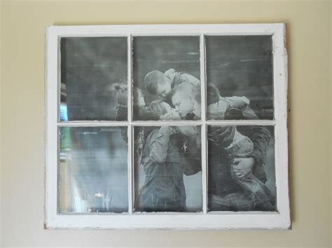 junkin crafts old window turned picture frame