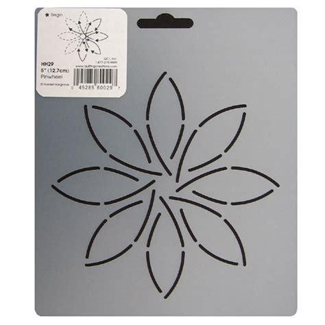 Quilting Stencils by Hh29 Pinwheel Block Quilting Stencil 5 Inch