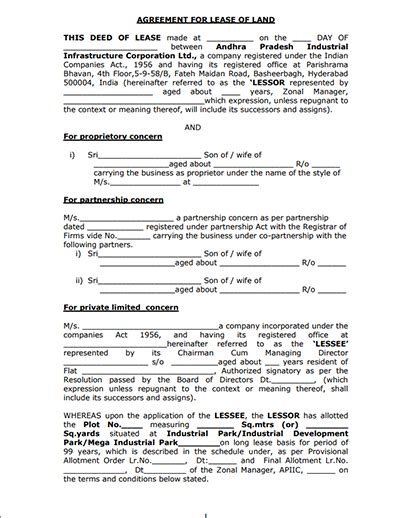 farm rental agreement template land lease agreement and farm land lease agreement